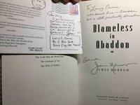 BLAMELESS IN ABADDON. by Morrow, James.