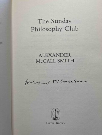 THE SUNDAY PHILOSOPHY CLUB. by Smith, Alexander McCall.