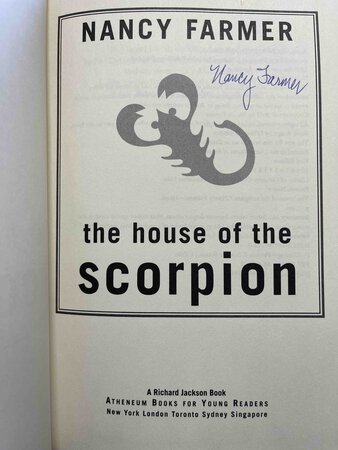 THE HOUSE OF THE SCORPION. by Farmer, Nancy.