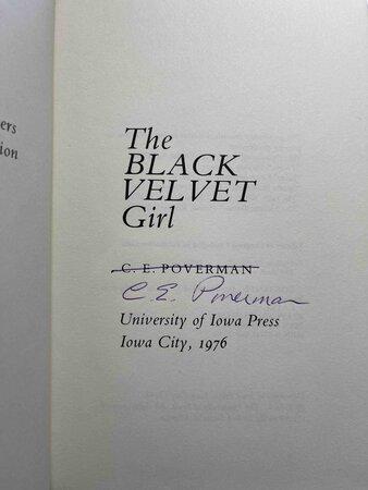 THE BLACK VELVET GIRL. by Poverman, C. E.