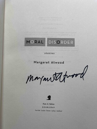 MORAL DISORDER: Stories. by Atwood, Margaret.