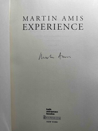 EXPERIENCE. by Amis, Martin.