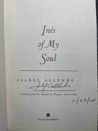 INES OF MY SOUL. by Allende, Isabel