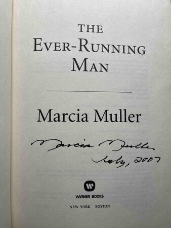 THE EVER-RUNNING MAN. by Muller, Marcia.