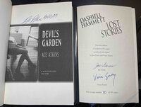 LOST STORIES with Atkin's DEVIL'S GARDEN. by Hammett, Dashiell (1894-1961) Joes Gores and Vince Emery, signed.