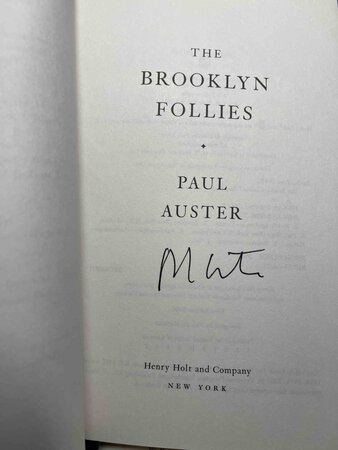 BROOKLYN FOLLIES. by Auster, Paul.
