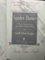 SPIDER DANCE: A Novel of Suspense Featuring Irene Adler and Sherlock Holmes. by Douglas, Carole Nelson.
