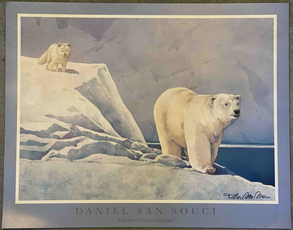 POSTER for ICE BEAR AND LITTLE FOX. by San Souci, Daniel.
