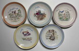 Another image of SET OF FIVE PORCELAIN PLATES. by Andersen, Hans Christian