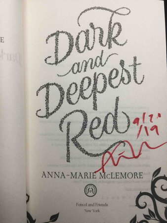 DARK AND DEEPEST RED. by McLemore, Anna-Marie.