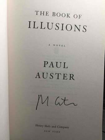 THE BOOK OF ILLUSIONS. by Auster, Paul
