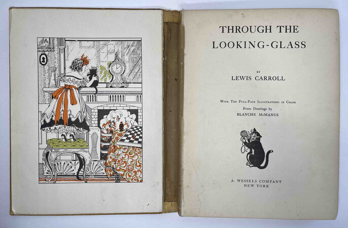 THROUGH THE LOOKING GLASS. by Carroll, Lewis; Blanche McManus, illustrator.