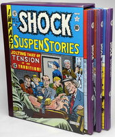 SHOCK SUSPENSTORIES (3 Volume Boxed Set, issues #1-18) by Gaines, William; Ray Bradbury and others; Johnny Craig, Al Williamson, Frank Frazetta and more, illustrators.