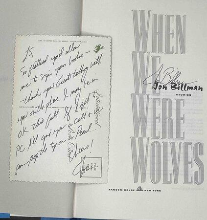 WHEN WE WERE WOLVES. by Billman, Jon.