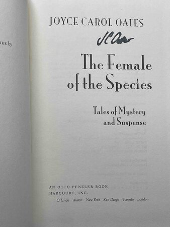 THE FEMALE OF THE SPECIES: Tales of Mystery and Suspense. by Oates, Joyce Carol.