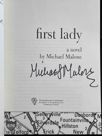 FIRST LADY. by Malone, Michael.