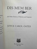 DIS MEM BER and Other Stories of Mystery and Suspense. by Oates, Joyce Carol.