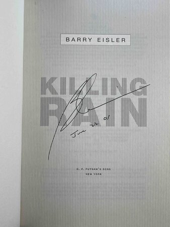 KILLING RAIN. by Eisler, Barry.