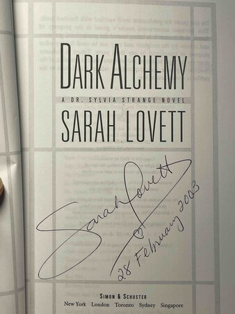 DARK ALCHEMY: A Dr. Sylvia Strange Novel. by Lovett, Sarah.
