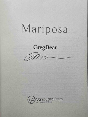 MARIPOSA. by Bear, Greg.