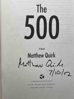 THE 500. by Quirk, Matthew.