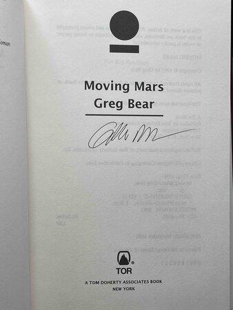 MOVING MARS. by Bear, Greg.