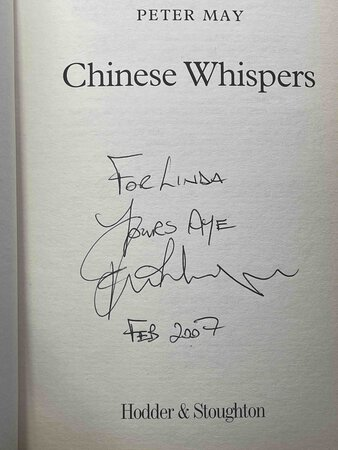 CHINESE WHISPERS. by May, Peter.