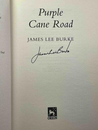 PURPLE CANE ROAD. by Burke, James Lee