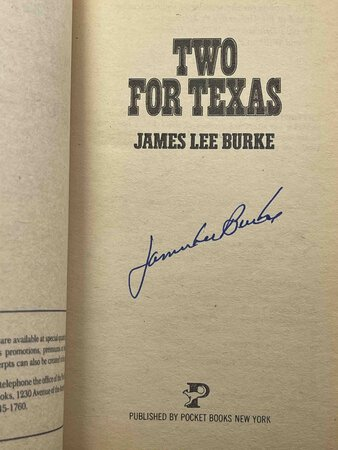 TWO FOR TEXAS. by Burke, James Lee.
