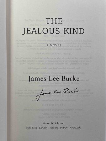THE JEALOUS KIND. by Burke, James Lee.