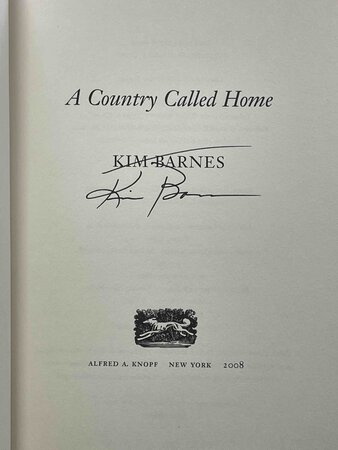 A COUNTRY CALLED HOME. by Barnes, Kim.