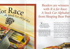 Another image of R IS FOR RACE: A Stock Car Alphabet. (Book plus poster.) by Herzog, Brad. Illustrated by Jane Gilltrap Bready.