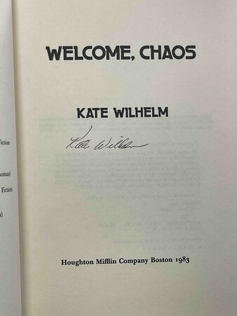 WELCOME CHAOS. by Wilhelm, Kate.