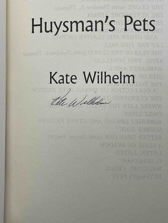 HUYSMAN'S PETS. by Wilhelm, Kate.