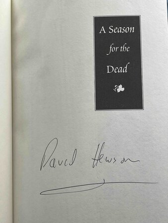 A SEASON FOR THE DEAD. by Hewson, David.