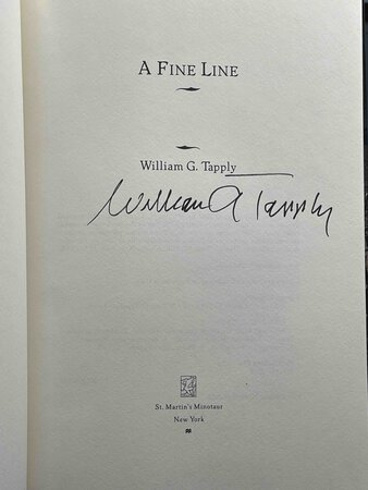 A FINE LINE. by Tapply, William G.
