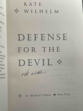 DEFENSE FOR THE DEVIL. by Wilhelm, Kate.