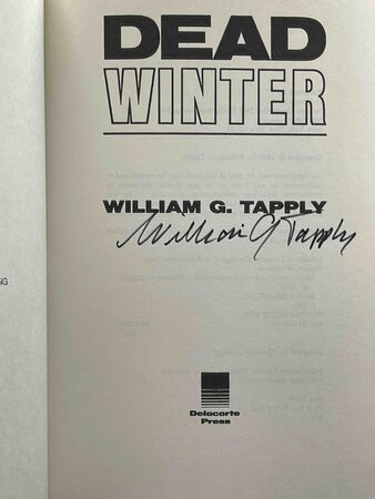 DEAD WINTER by Tapply, William G.