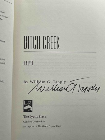 BITCH CREEK. by Tapply, William G. (1940-2009).