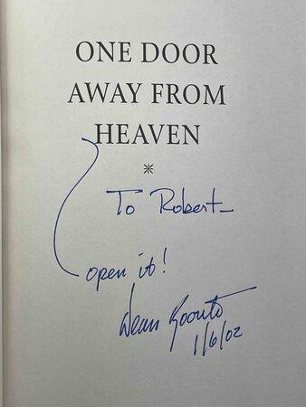 ONE DOOR AWAY FROM HEAVEN. by Koontz, Dean.