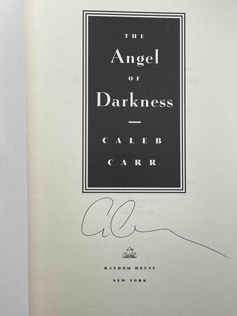 THE ANGEL OF DARKNESS. by Carr, Caleb.