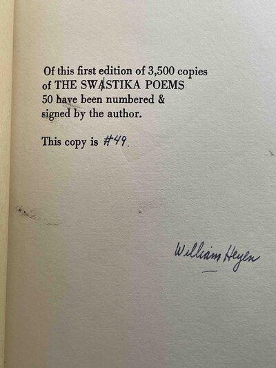 THE SWASTIKA POEMS. by Heyen, William.