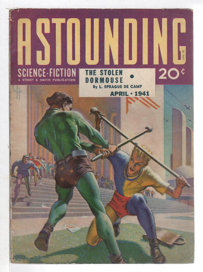 """""""Reason"""" in ASTOUNDING SCIENCE FICTION, APRIL 1941, Volume XXVII, Number 2. by Asimov, Isaac; Theodore Sturgeon, L. Sprague De Camp and others."""
