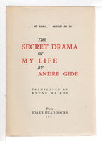 THE SECRET DRAMA OF MY LIFE. by Gide, Andre.