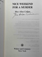 NICE WEEKEND FOR A MURDER. by Collins, Max Allan.
