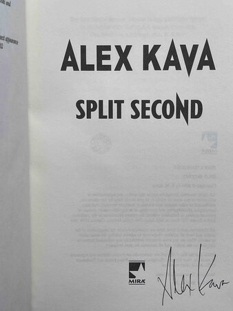SPLIT SECOND. by Kava, Alex.