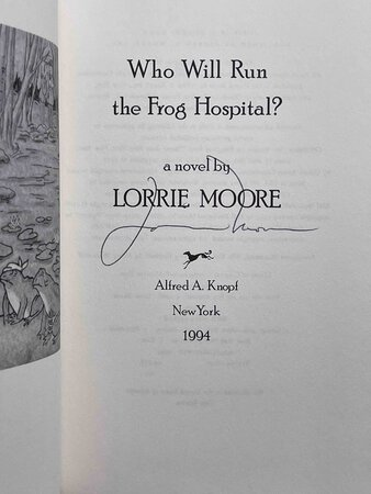 WHO WILL RUN THE FROG HOSPITAL? by Moore, Lorrie