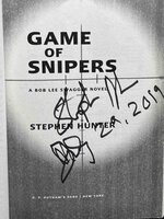 GAME OF SNIPERS. by Hunter, Stephen.