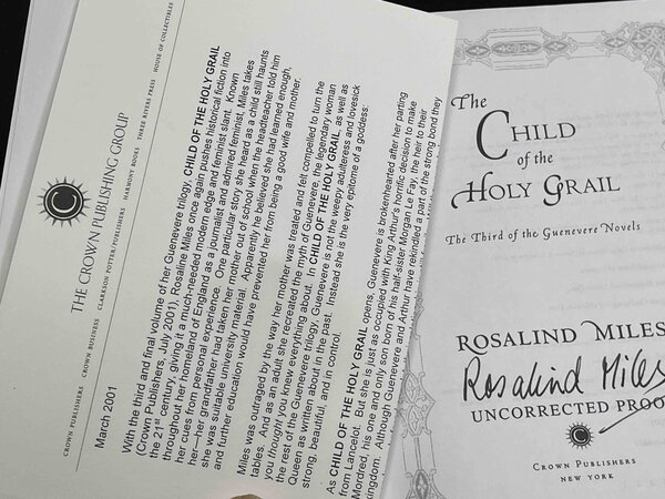THE CHILD OF THE HOLY GRAIL: The Third of the Guenevere Novels. by Miles, Rosalind.