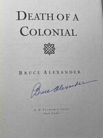 DEATH OF A COLONIAL. by Alexander, Bruce.